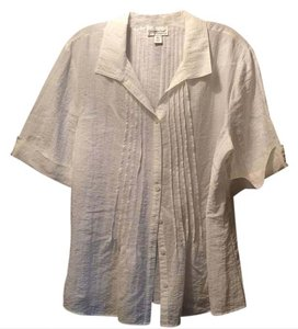 Coldwater Creek Button Down Shirt white