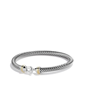 David Yurman Cable Classic Buckle Bracelet with Gold