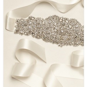David's Bridal Heavily Encrust Sash