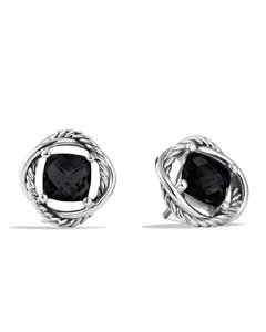 David Yurman Infinity Stud Earrings with Black Onyx