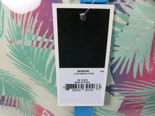 Juicy Couture Beach Blue & White Travel Bag Image 11