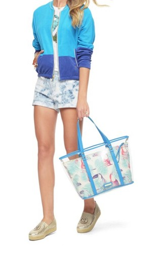 Juicy Couture Beach Blue & White Travel Bag Image 4