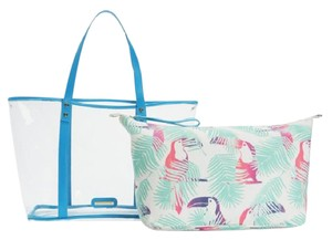 Juicy Couture New With Tags Blue & White Travel Bag