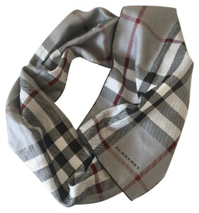 Burberry Grey Check Long Scarf