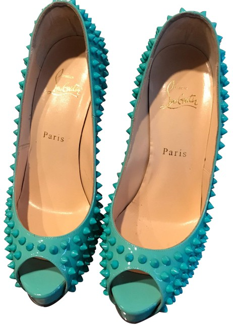 Item - Turquoise Fifa Spikes Platforms Size US 9 Narrow (Aa, N)