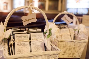 Wedding Program Baskets
