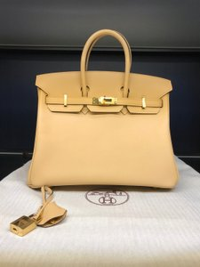 Hermès Birkin Birkin 25cm Birkin New Satchel in Naturel Sable