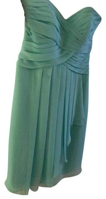 Item - Teal Bridesmaid Collection- Strapless In Mid-length Cocktail Dress Size 2 (XS)