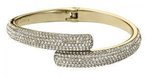 Michael Kors NEW Michael Kors MKJ3666710 Crystal Pave Ladies Hinged Bangle Bracelet