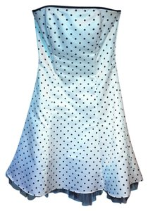 Jessica McClintock Polka Dot Strapless A-line Dress