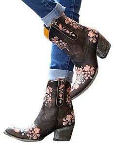 Old Gringo Classic Chic Boho Riding Sora Floral Heeled Star By Og Distressed Cowgirl Brown Boots