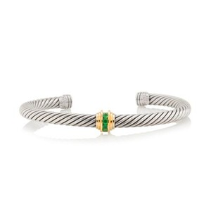 David Yurman Classics Single Station Bracelet with Emerald, 5mm
