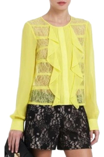 Preload https://img-static.tradesy.com/item/20936593/bcbgmaxazria-yellow-cait-silk-and-lace-blouse-size-0-xs-0-10-650-650.jpg