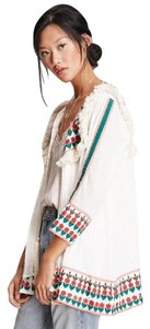 Forever 21 Embroidered Tassels Swing Jacket Top