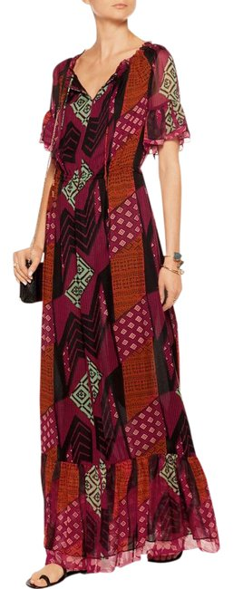 Item - Burgundy Red Dvf Jane Long Casual Maxi Dress Size 4 (S)