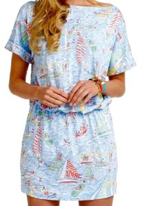 Lilly Pulitzer short dress Blue Nautical Summer Boat on Tradesy