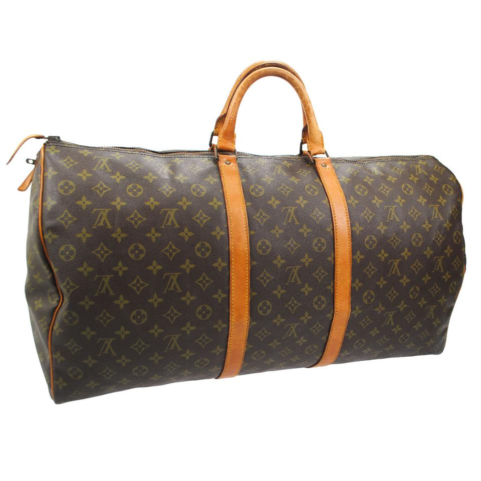 louis vuitton 60 carry all travel hand luggage duffle monogram travel bag on sale 87 off. Black Bedroom Furniture Sets. Home Design Ideas