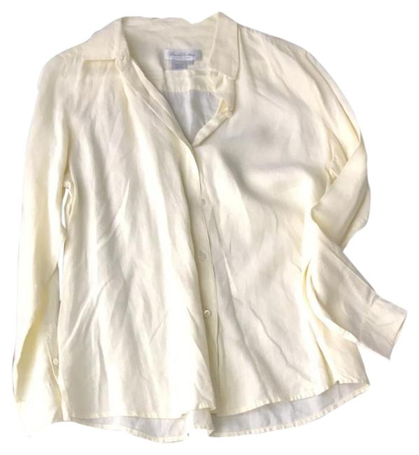 Preload https://img-static.tradesy.com/item/20936733/brooks-brothers-pale-yellow-blouse-size-12-l-0-1-650-650.jpg
