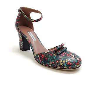 Tabitha Simmons D'orsay Floral Bow multi floral Sandals