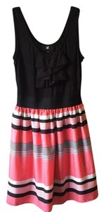 IZ Byer California short dress black, coral pink, and white on Tradesy