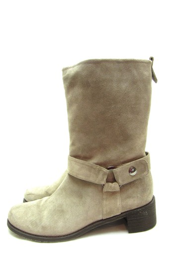 Stuart Weitzman Suede Suede Mid Calf Taupe Suede Brown Boots