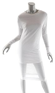 DIM E CRES short dress White Cotto Blend Double Layer on Tradesy
