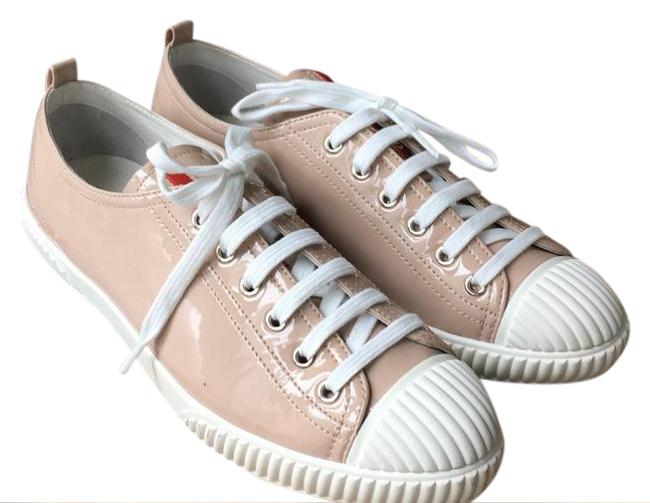 Item - Beige White New Sneakers Size US 10 Regular (M, B)