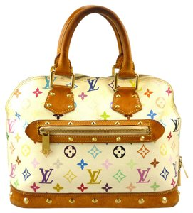 Louis Vuitton Monogram Canvas Leather Satchel in Multi Color