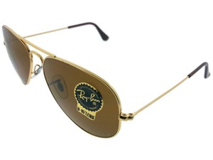 Ray-Ban RB3025-001-33 Aviator Unisex Gold Frame Brown Lens Genuine Sunglasses