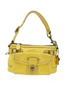 Coach Leather Satchel in Yellow