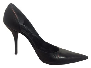 Helmut Lang Stiletto Leather Pointed Toe D'orsay BLACK Pumps