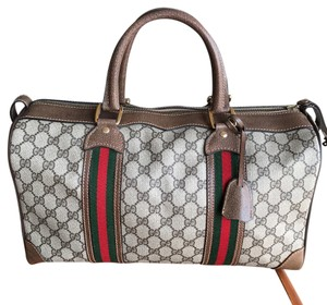 Gucci brown/ Green/Red Travel Bag