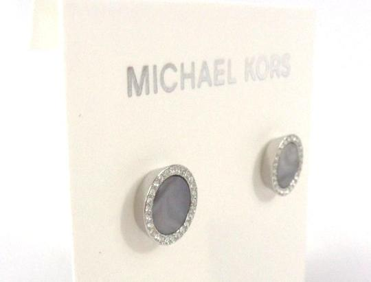 Michael Kors Michael Kors MKJ5187040 Gray Silver tone Pave Crystals Earrings