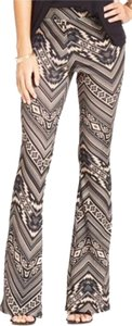Stoosh Tribal Flare Pants Mocha & Black