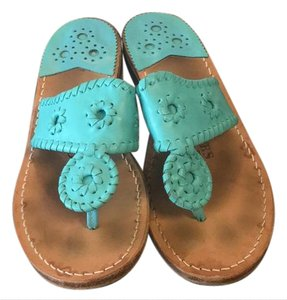 Jack Rogers Palm Beach Thong Turquoise Sandals