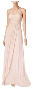 Adrianna Papell Almond Gorgeous Adrianna Papell Women's Almond Ruched Embellished Gown Dress