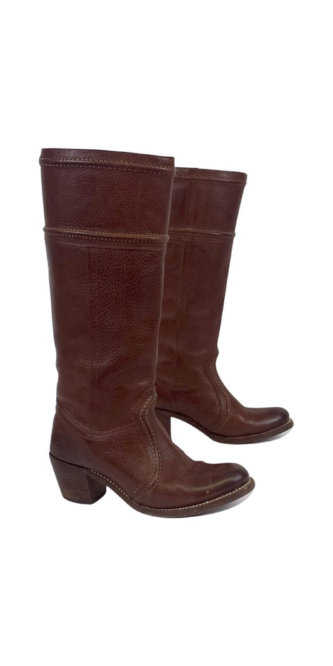 Frye Brown Brown Frye Tall Pull-on Leather Boots/Booties 0fc36b