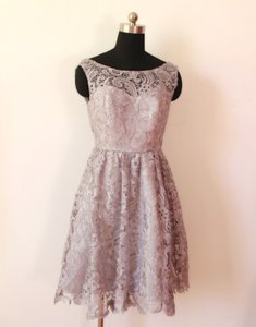 Grey Lace In Plus Available Vintage Bridesmaid/Mob Dress Size OS (one size)