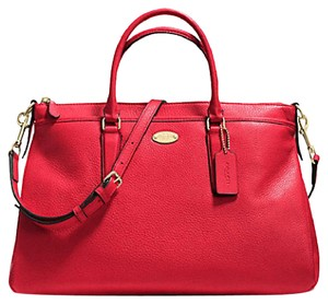 Coach Satchel in IMITATION GOLD/CLASSIC RED