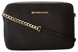 Michael Kors 32s4gtvc3l Saffiano Leather Black Cross Body Bag