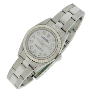 Rolex 2001 Rolex Oyster Perpetual 24mm 76094 SS Diamond Dial Watch