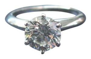 Tiffany & Co. Tiffany & Co Platinum Round Diamond Solitaire Engagement Ring 1.48CT I