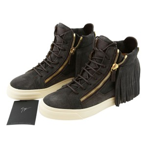 Giuseppe Zanotti Zanotti Sneakers High-top Sneakers Zanotti Suede Gray Athletic