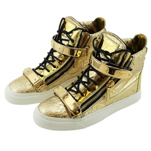 Giuseppe Zanotti Zanotti Sneakers High-top Sneakers Metal Strap Sneaker Zanotti Women Gold Boots
