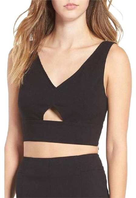 Preload https://img-static.tradesy.com/item/20937751/leith-black-deep-v-crop-night-out-top-size-8-m-0-1-650-650.jpg