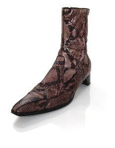 Prada Ankle Short Snakeskin Python Brown Boots