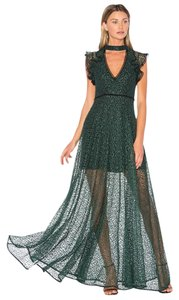 Green Maxi Dress by Alexis Jade Elegant Stunning Formal Gown