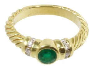 Estate Jewelry Estate DY Inspired Emerald Diamond Ring