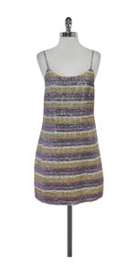 Alice + Olivia short dress Multi Color Sequin Striped Spaghetti Strap on Tradesy