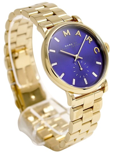 Preload https://item1.tradesy.com/images/marc-jacobs-gold-by-baker-tone-navy-blue-dial-watch-2093800-0-0.jpg?width=440&height=440